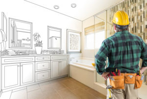 Contractor Planning Bathroom Remodel in Frederick