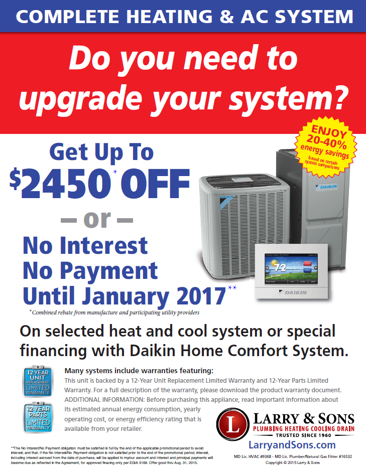 air conditioning replacement promotion