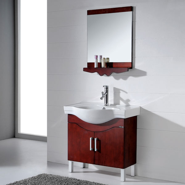 Box style European vanity for small bathroom