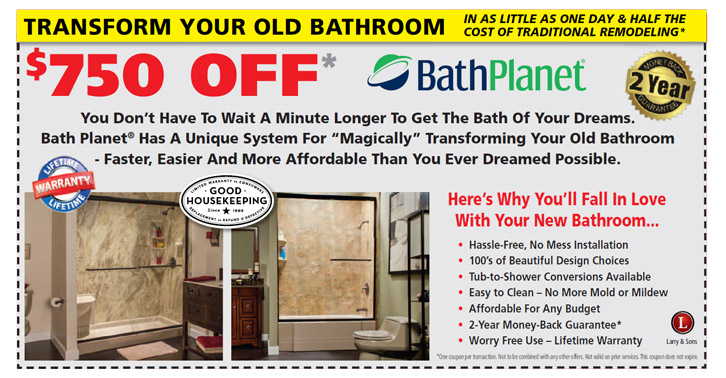 $750 off one-day bathroom remodel