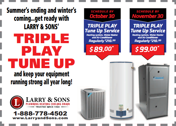 Triple-Play Heating, A/C, Water Heater Tune-Up