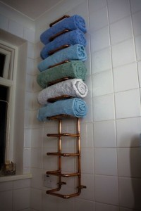 Copper Towel Rack