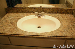 Painted Granite Counter