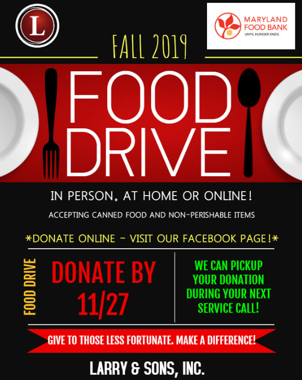 fall food drive larry and sons hagerstown md