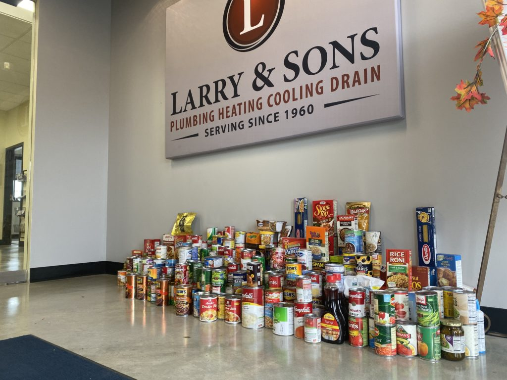 food donations 2019 Maryland food bank food drive - Larry & Sons